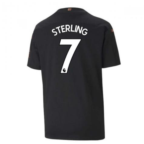 2020-2021 Manchester City Puma Away Football Shirt (Kids) (STERLING 7)