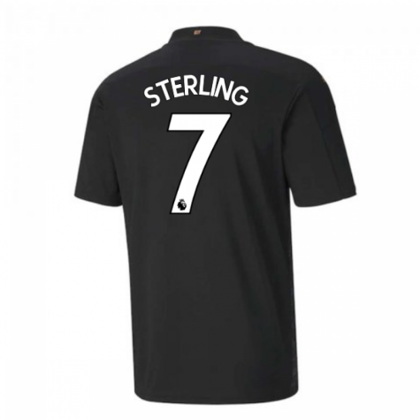 2020-2021 Manchester City Puma Away Football Shirt (STERLING 7)