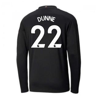 2020-2021 Manchester City Puma Away Long Sleeve Shirt (DUNNE 22)