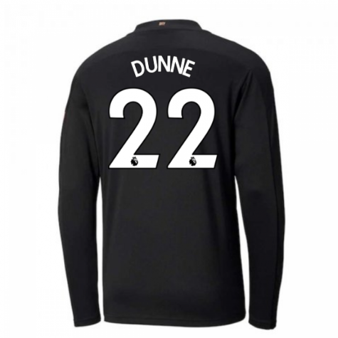 2020-2021 Manchester City Puma Away Long Sleeve Shirt (DUNNE 22)
