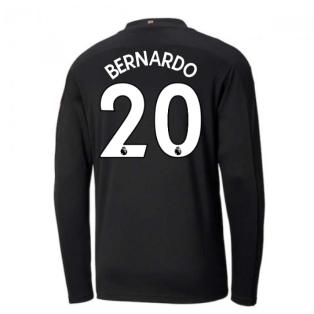 2020-2021 Manchester City Puma Away Long Sleeve Shirt (Kids) (BERNARDO 20)