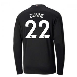 2020-2021 Manchester City Puma Away Long Sleeve Shirt (Kids) (DUNNE 22)