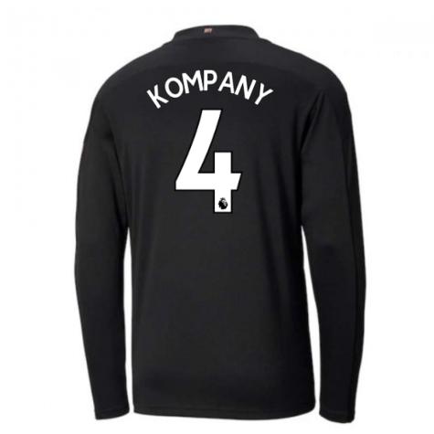2020-2021 Manchester City Puma Away Long Sleeve Shirt (Kids) (KOMPANY 4)