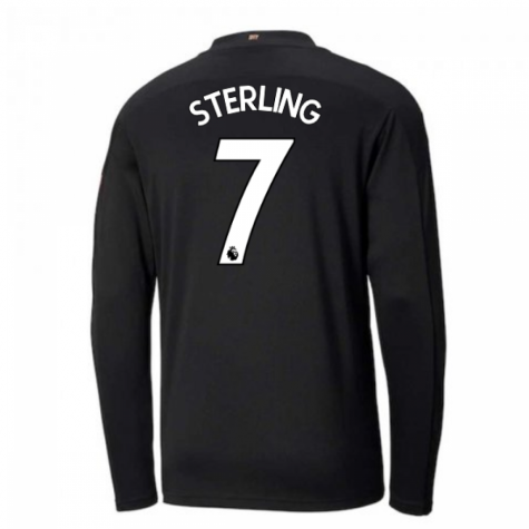 2020-2021 Manchester City Puma Away Long Sleeve Shirt (Kids) (STERLING 7)