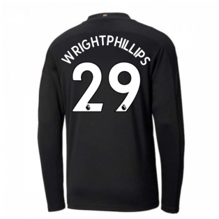 2020-2021 Manchester City Puma Away Long Sleeve Shirt (Kids) (WRIGHT-PHILLIPS 29)