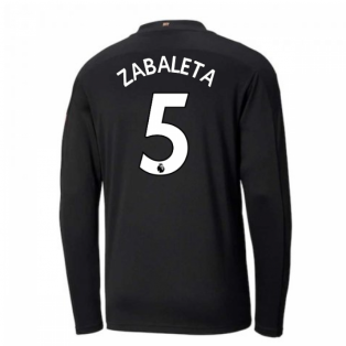 2020-2021 Manchester City Puma Away Long Sleeve Shirt (Kids) (ZABALETA 5)