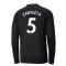 2020-2021 Manchester City Puma Away Long Sleeve Shirt (Kids) (ZABALETA 5)