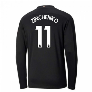 2020-2021 Manchester City Puma Away Long Sleeve Shirt (Kids) (ZINCHENKO 11)