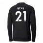 2020-2021 Manchester City Puma Away Long Sleeve Shirt (SILVA 21)