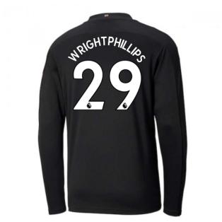2020-2021 Manchester City Puma Away Long Sleeve Shirt (WRIGHT-PHILLIPS 29)