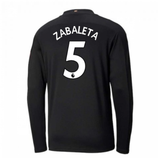 2020-2021 Manchester City Puma Away Long Sleeve Shirt (ZABALETA 5)