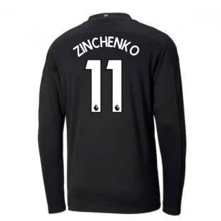 2020-2021 Manchester City Puma Away Long Sleeve Shirt (ZINCHENKO 11)