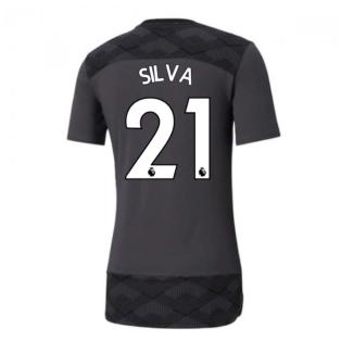 2020-2021 Manchester City Puma Casuals Tee (Asphalt) (SILVA 21)