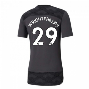 2020-2021 Manchester City Puma Casuals Tee (Asphalt) (WRIGHT-PHILLIPS 29)