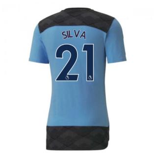 2020-2021 Manchester City Puma Casuals Tee (Light Blue) (SILVA 21)