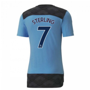 2020-2021 Manchester City Puma Casuals Tee (Light Blue) (STERLING 7)