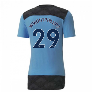 2020-2021 Manchester City Puma Casuals Tee (Light Blue) (WRIGHT-PHILLIPS 29)