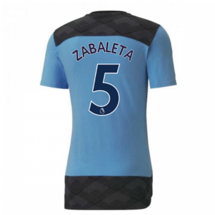 2020-2021 Manchester City Puma Casuals Tee (Light Blue) (ZABALETA 5)