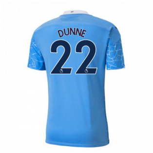 2020-2021 Manchester City Puma Home Authentic Football Shirt (DUNNE 22)