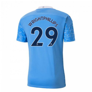 2020-2021 Manchester City Puma Home Authentic Football Shirt (WRIGHT-PHILLIPS 29)