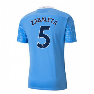 2020-2021 Manchester City Puma Home Authentic Football Shirt (ZABALETA 5)