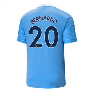 2020-2021 Manchester City Puma Home Football Shirt (BERNARDO 20)