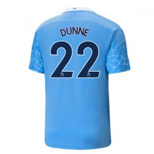 2020-2021 Manchester City Puma Home Football Shirt (DUNNE 22)