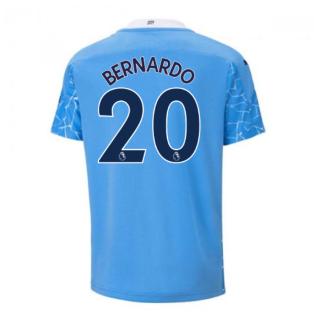 2020-2021 Manchester City Puma Home Football Shirt (Kids) (BERNARDO 20)
