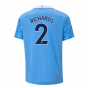 2020-2021 Manchester City Puma Home Football Shirt (Kids) (RICHARDS 2)