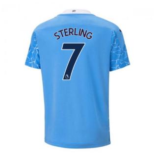 2020-2021 Manchester City Puma Home Football Shirt (Kids) (STERLING 7)