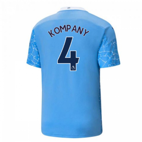 2020-2021 Manchester City Puma Home Football Shirt (KOMPANY 4)