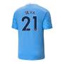 2020-2021 Manchester City Puma Home Football Shirt (SILVA 21)