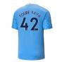 2020-2021 Manchester City Puma Home Football Shirt (TOURE YAYA 42)