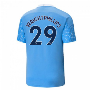 2020-2021 Manchester City Puma Home Football Shirt (WRIGHT-PHILLIPS 29)