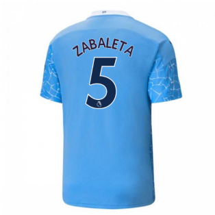 2020-2021 Manchester City Puma Home Football Shirt (ZABALETA 5)