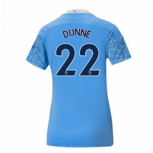 2020-2021 Manchester City Puma Home Ladies Shirt (DUNNE 22)
