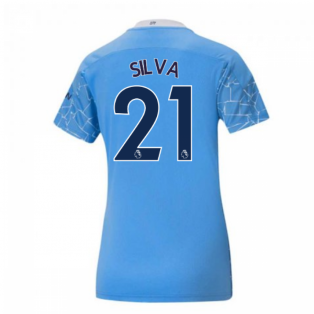 2020-2021 Manchester City Puma Home Ladies Shirt (SILVA 21)