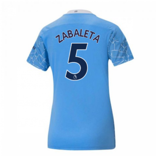 2020-2021 Manchester City Puma Home Ladies Shirt (ZABALETA 5)