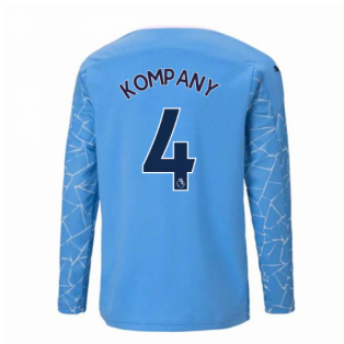 2020-2021 Manchester City Puma Home Long Sleeve Shirt (Kids) (KOMPANY 4)