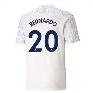 2020-2021 Manchester City Puma Third Football Shirt (BERNARDO 20)