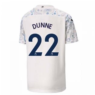 2020-2021 Manchester City Puma Third Football Shirt (Kids) (DUNNE 22)