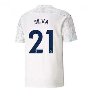 2020-2021 Manchester City Puma Third Football Shirt (SILVA 21)