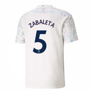 2020-2021 Manchester City Puma Third Football Shirt (ZABALETA 5)