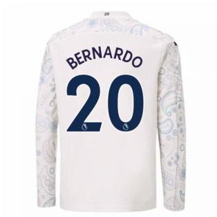 2020-2021 Manchester City Puma Third Long Sleeve Shirt (Kids) (BERNARDO 20)