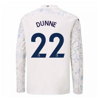 2020-2021 Manchester City Puma Third Long Sleeve Shirt (Kids) (DUNNE 22)
