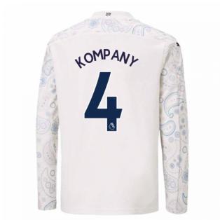 2020-2021 Manchester City Puma Third Long Sleeve Shirt (Kids) (KOMPANY 4)