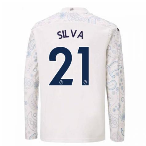 2020-2021 Manchester City Puma Third Long Sleeve Shirt (Kids) (SILVA 21)