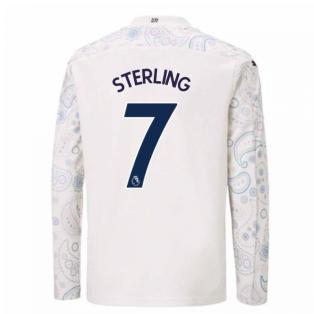 2020-2021 Manchester City Puma Third Long Sleeve Shirt (Kids) (STERLING 7)