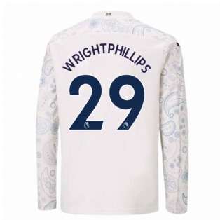 2020-2021 Manchester City Puma Third Long Sleeve Shirt (Kids) (WRIGHT-PHILLIPS 29)