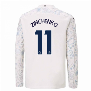2020-2021 Manchester City Puma Third Long Sleeve Shirt (Kids) (ZINCHENKO 11)